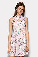 Літнє рожеве плаття з узором Lisa Розпродаж (M / 46)