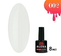 Гель-лак ALEXA 002. Белый атлас. 8 мл