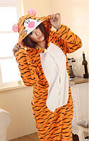 Кигуруми тигр пижама теплая махровая комбинезон