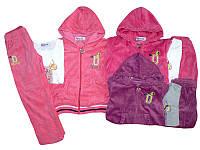 Велюровые костюмы для девочек опт,TAURUS размеры 98-128, арт. F 214, фото 1