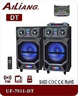 """Активная акустическая система колонки Ailiang DT-7911, Bluetooth, 110W, 10"""" дюймов, подсветка, пульт"""