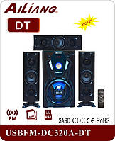 Активная акустическая система 3.1 колонки Ailiang DC320A-DT, Bluetooth, 60W, подсветка, пульт
