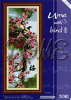 Набор для вышивания крестиком Уме с птицей