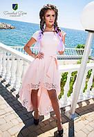 Красивое праздничное платье с коротким рукавом