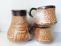 Набор кофейный турка и чашки керамический