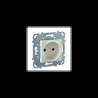Розетка с суппортом. Без заземляющего контакта слоновая кость Unica Schneider Electric MGU5.033.25ZD