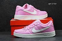 Кроссовки nike air force Женские ярко розовый