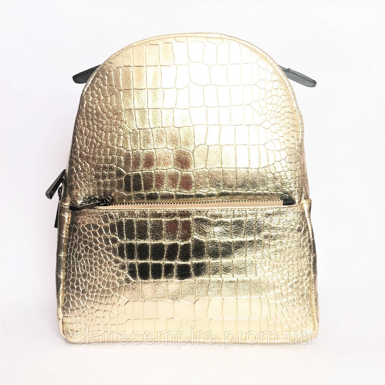 Рюкзак кожаный, Италия, gold