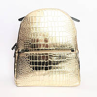 Рюкзак кожаный, Италия, gold, фото 1