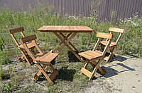 Улучшенная конструкция! Раскладной стол 1шт и стулья 4шт плюс мангал в подарок для пикника и дачи