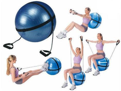 Мяч фитнес(Anti-burst) с эспандером, IronMaster - BUDO-sport.net в Одессе