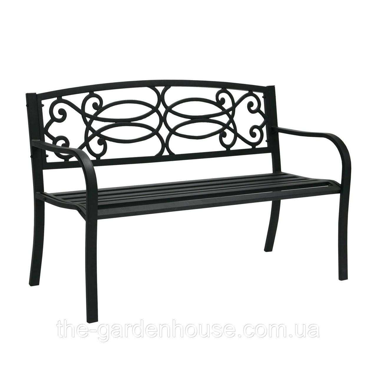 Металлическая садовая скамейка Верде