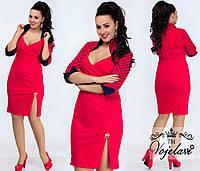 Женское Платье с Воротником (KL006/Red)
