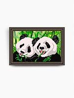 Схема на ткани под вышивку бисером Art Solo VKA3024. Панды