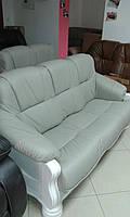 Кожаный диван и кресла на дубе KATRIN, шкіряні меблі,кожаный  диван