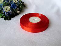 Лента 1,2 атлас однотонная.  Цвет красный. Бобина 18 грн - 33 метра, на метраж 1 грн - метр.