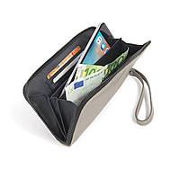 Кожаный кошелек бумажник tucano tva-sipp-g sicuro premium pochette серый