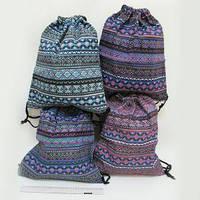 "Мешок для обуви №7646-2 ткань 41х34см ""Узор"" mix уп12"