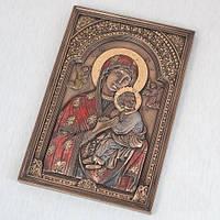 """Картина""""Дева Мария и Иисус"""" (15х23см) с бронзовым покрытием"""
