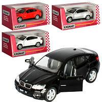 "Машинка KT 5336 W ""Kinsmart. BMW X6"", 12,5 см (Y)"
