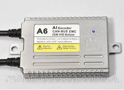 Блок розжига A6 SMART CAN-BUS AC Slim 38W / балласт для ксенона, фото 2