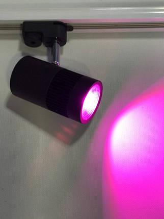 Светодиодный трековый фитосветильник SL-4000F 10W (full spectrum led) черный Код.58952, фото 2