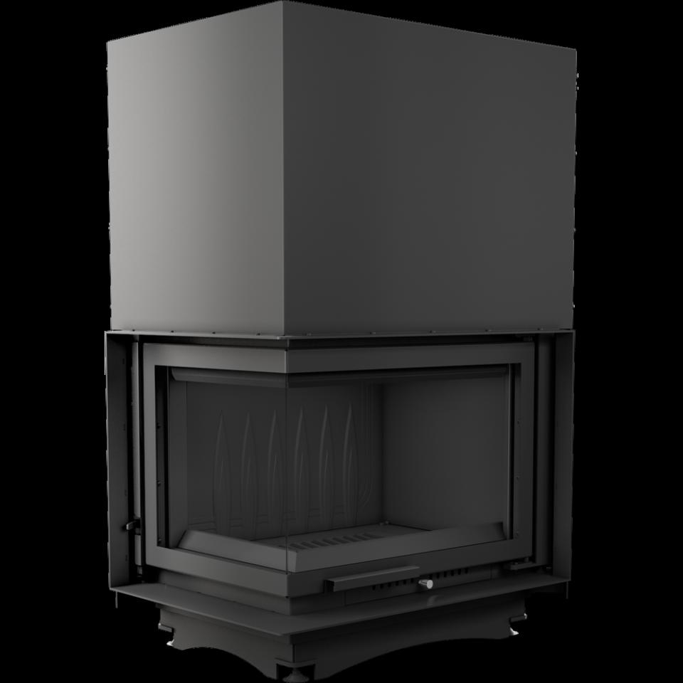 Каминная топка  zuzia (гильотина угловая левая без рамы) 16 кВт чугунная