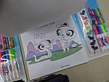 Набір-ПЛАНШЕТ, ПОНІ, для малювання, розмальовки, фломастери, крейда, фарби, наклейки, фото 4