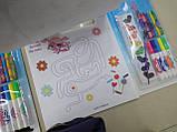 Набір-ПЛАНШЕТ, ПОНІ, для малювання, розмальовки, фломастери, крейда, фарби, наклейки, фото 5