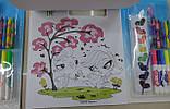 Набір-ПЛАНШЕТ, ПОНІ, для малювання, розмальовки, фломастери, крейда, фарби, наклейки, фото 6