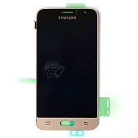 Дисплейный модуль для Samsung Galaxy J1 J120 (2016) (Gold) Original