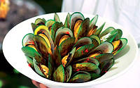 Новозеландские зеленые мидии в половинке ракушки 30-40
