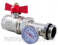 """Кран с термометром для насосной станции 1 1/2 -1"""" (38D025000) Roda"""