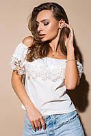 """Блузка женская стильная """"Белое солнце"""""""