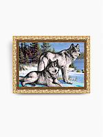 Схема на ткани под вышивку бисером Art Solo VKA3029. Волки