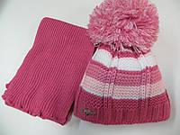 Зимняя шапка с шарфом для девочки 7-9 лет (Польша)
