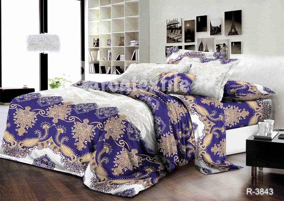 Натуральное постельное белье полуторное красивая абстракция ... b1b6d4452320b
