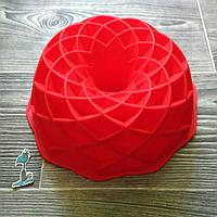 """Форма силиконовая для формирования и выпекания с втулкой """"Геометрический узор"""""""