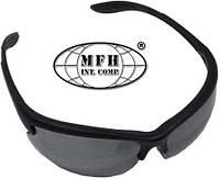 """Армейские спортивные очки чёрные с 3 дополнительными стёклами MFH """"Strike"""" 25813"""