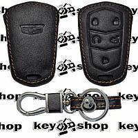 Чехол (кожаный) для авто ключа Cadillak (Кадиллак) 4 кнопки + 1
