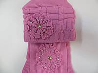 Набор шапка с шарфом для девочки 10-12 лет (Польша)