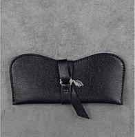 Футляр для очков кожаный черный  (ручная работа), фото 1