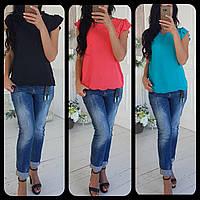 Женская шифоновая блуза с перфорацией, 3 цвета