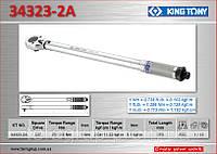 """Ключ динамометрический 3/8"""", 19-110NM, KING TONY 34323-2A."""
