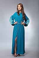 Женское вышитое платье «Дерево жизни бирюзовое» 04a0af1abf475