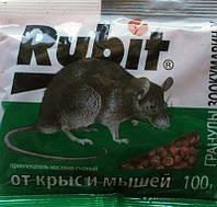 Средство от крыс и мышей Rubit Зоокумарин+, 100г.