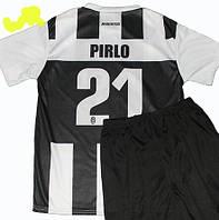 Детская (6-9 лет) футбольная форма ''Пирло''- ФК''Ювентус'' (Турин) (2012/2013) - черно-белая, домашняя