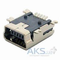 (Коннектор) Универсальный для китайских телефонов (5pin) miniUSB врезной (для планшетов, GPS)