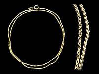 Модная цепочка на шею золотистая