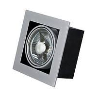 Карданный поворотный светильник GTV PIREO для ламп 1xAR111/ES111 серый, сталь